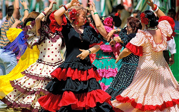 Flamenco -fiesta w Hiszpanii